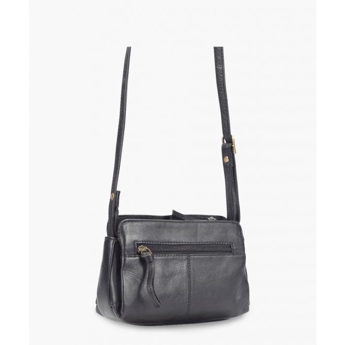 Image for Black leather mini crossbody