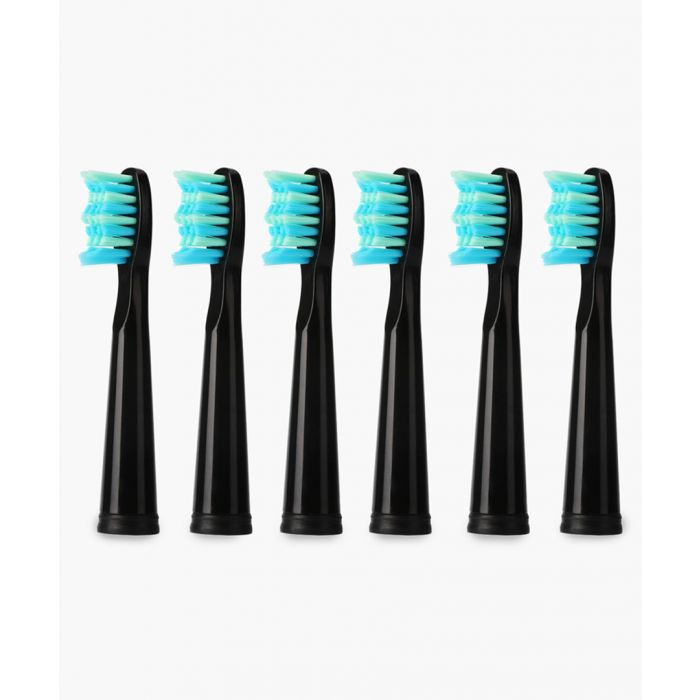 Image for 6pc Flash Travel black replacement toothbrush head set