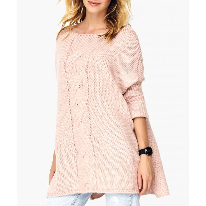 Image for Dirty pink wool blend jumper