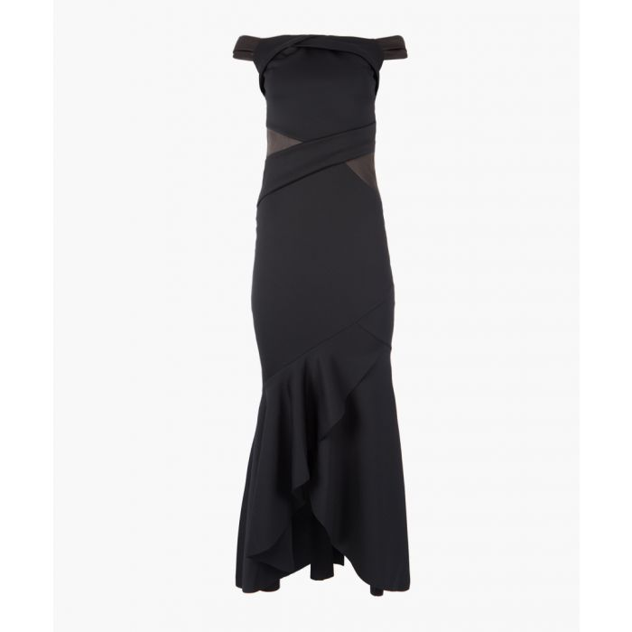 Image for Navy bardot maxi dress