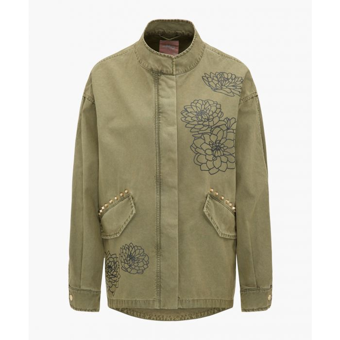 Image for Olive pure cotton parka