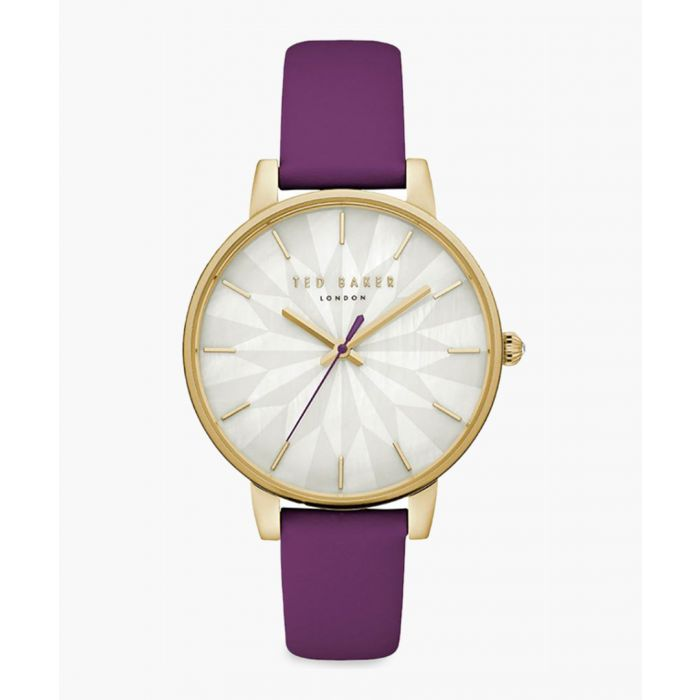 Image for Kate purple leather and stainless steel watch