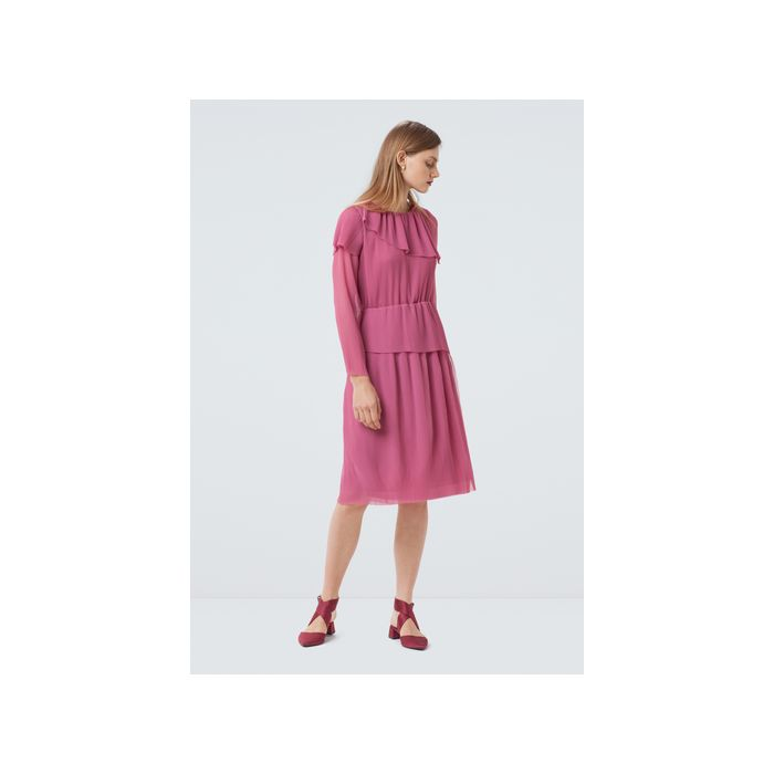 Image for Balstone Layered Pleated Dress - pink