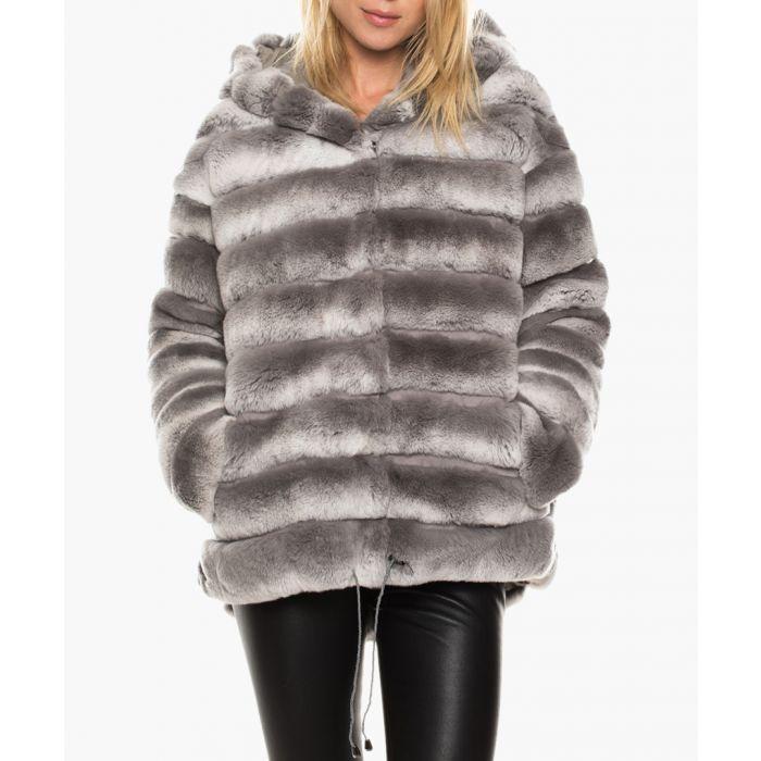 Image for Solis grey fur coat