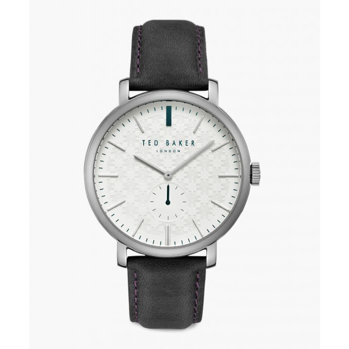 Image for Trent silver-tone leather and stainless steel watch