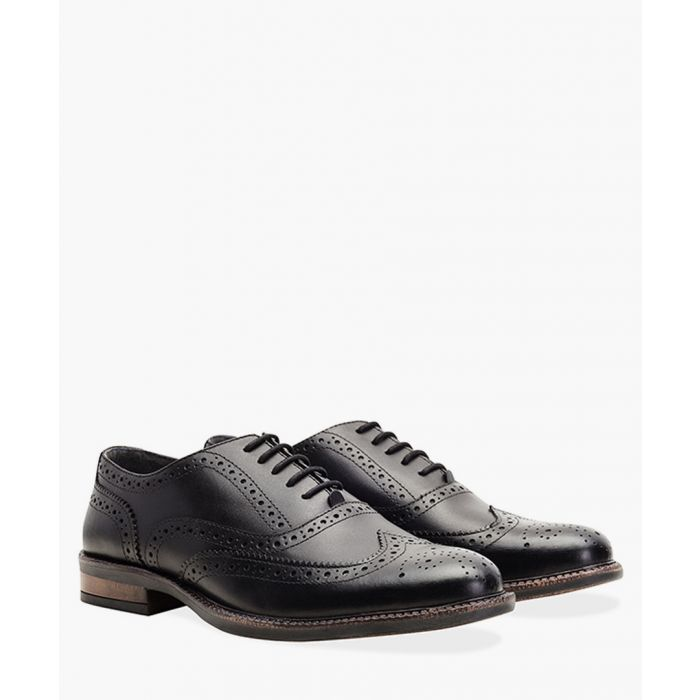 Image for Black chunky leather Oxford brogues