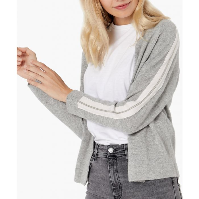 Image for Light grey pure cashmere cardigan