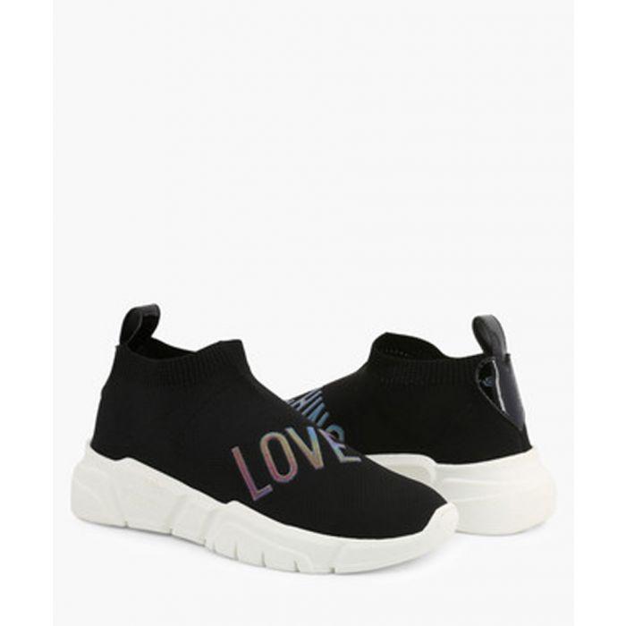 Image for Black & white Love logo sneakers