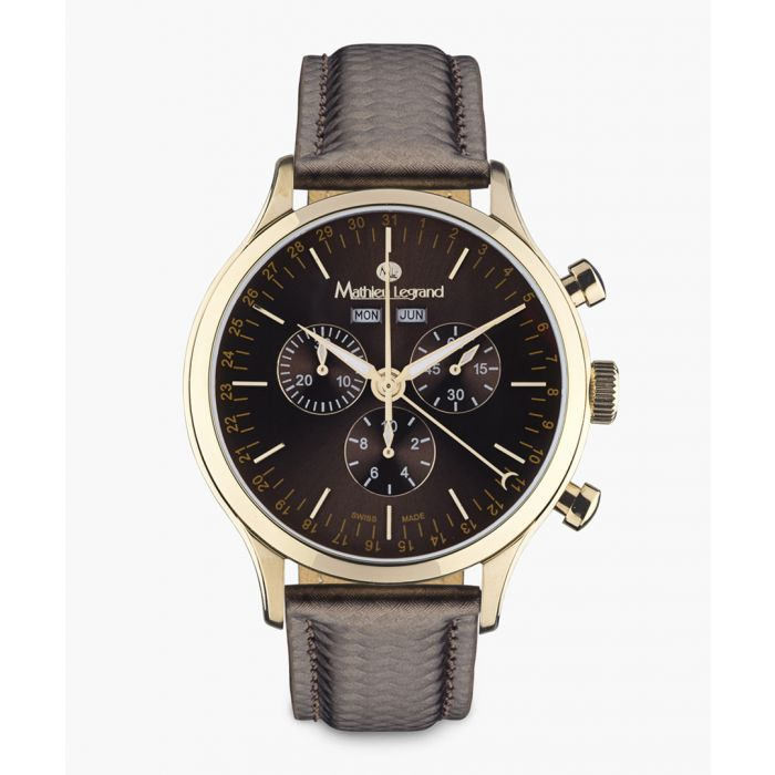 Image for Tournante brown watch
