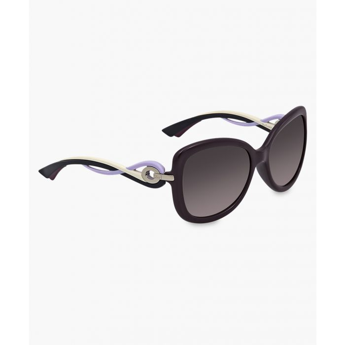 Image for Twisting plum and mauve square sunglasses
