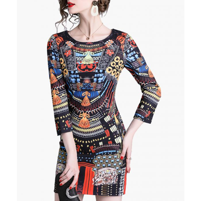 Image for Multi-colour print mini dress