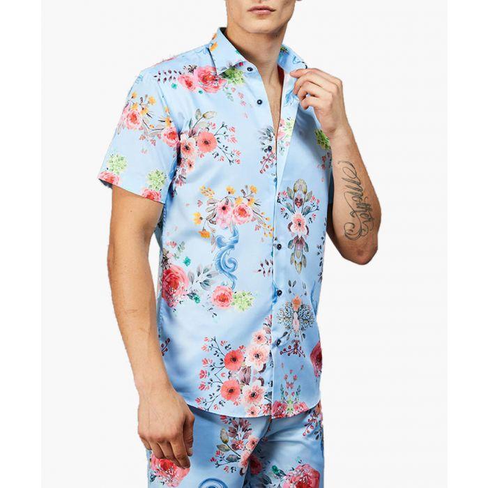Image for Criminal Damage Polo Shirts BLUE/MULTI