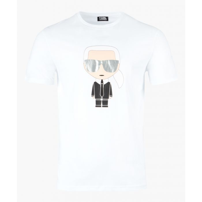 Image for White logo motif T-shirt