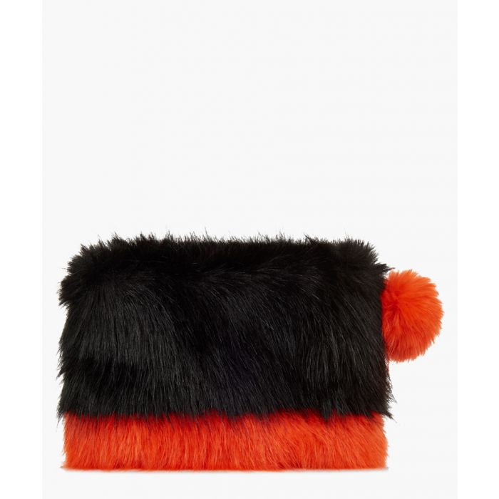 Image for Black and blaze two-tone clutch