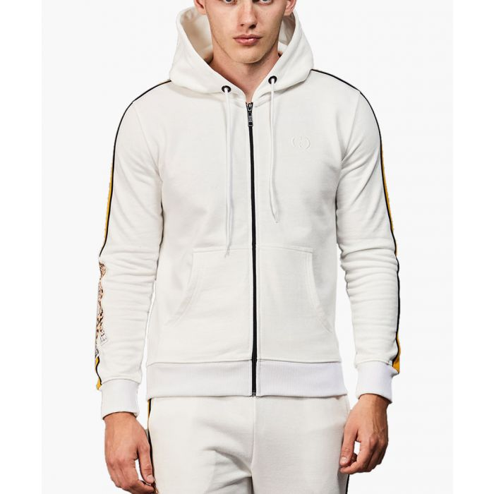 Image for Off-white and multi-coloured cotton hoodie