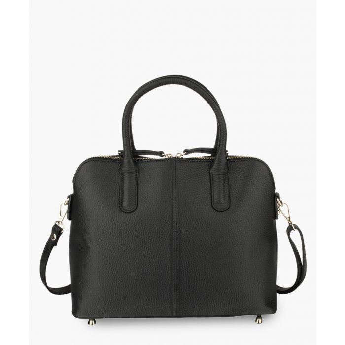 Image for Black leather tote bag