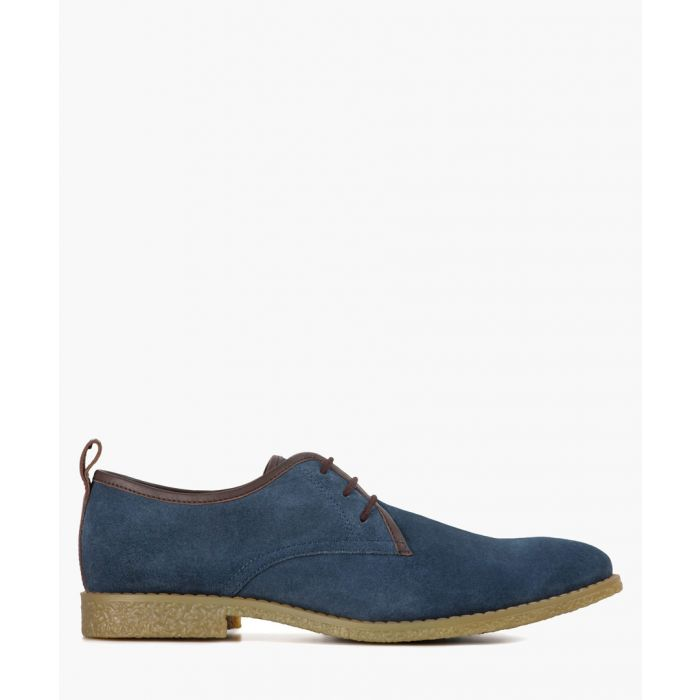 Image for Lewis navy suede leather Desert shoes