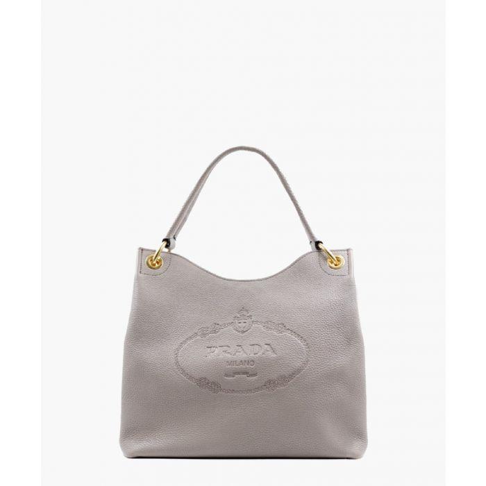 Image for Vitello Phenix argilla leather hobo bag