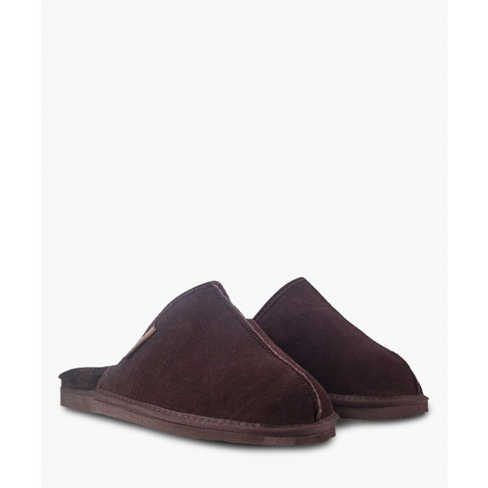 Image for Chocolate sheepskin slippers