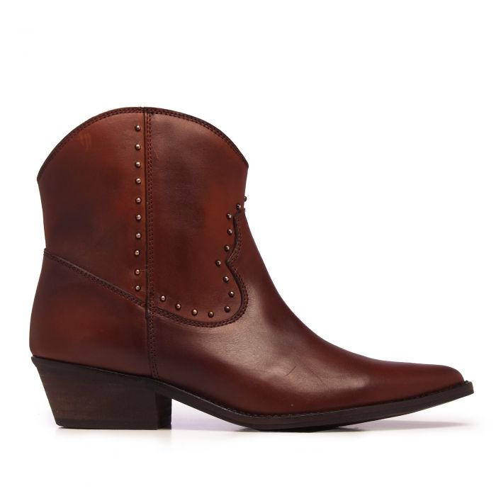 Image for Womens brown leather ankle boots