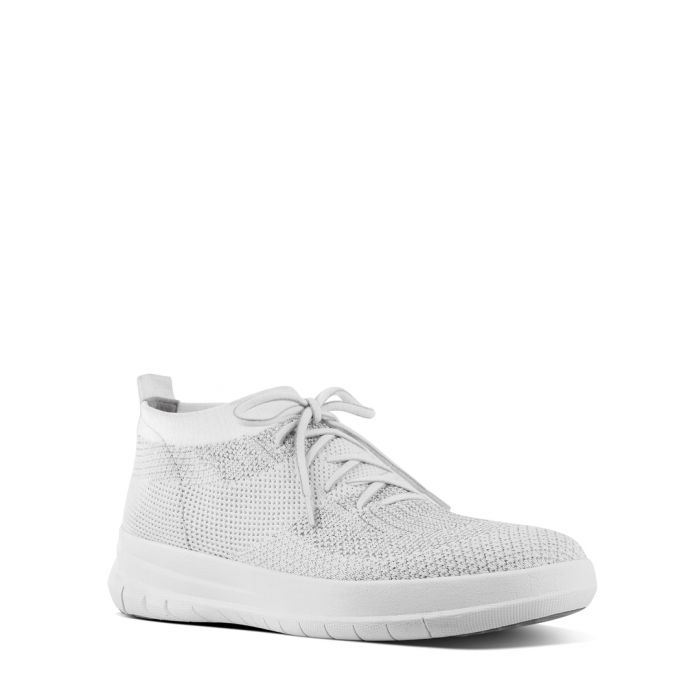 Image for Uberknit urban white slip-on trainers