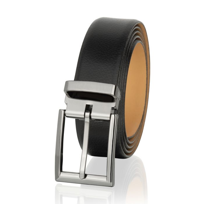 Image for Black leather classic belt