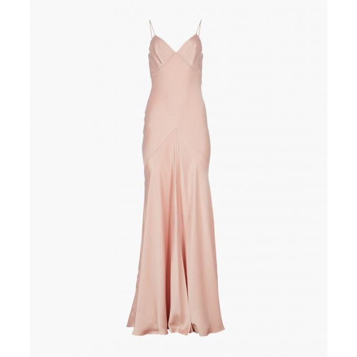 Image for Blush satin strappy maxi dress