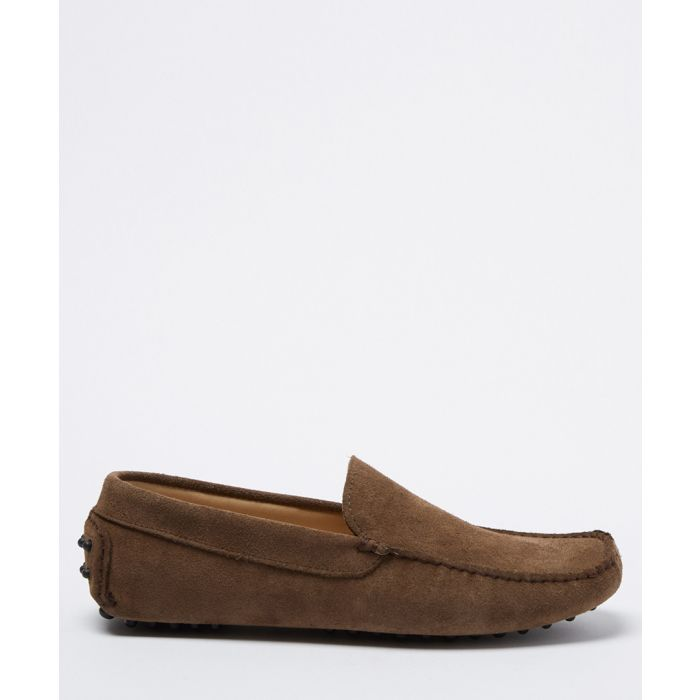 Image for Benavides taupe suede loafers