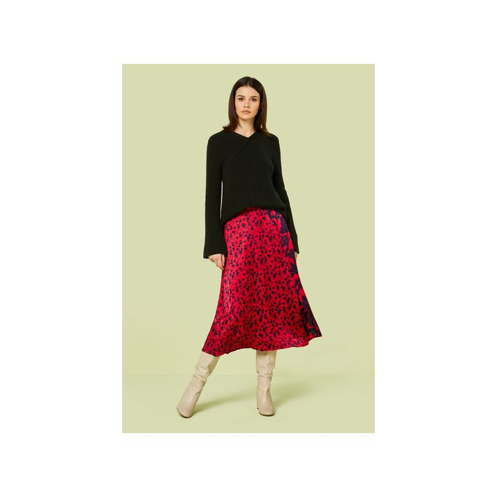 Image for Adelaide Shadow Floral Print Midi Skirt - Multi