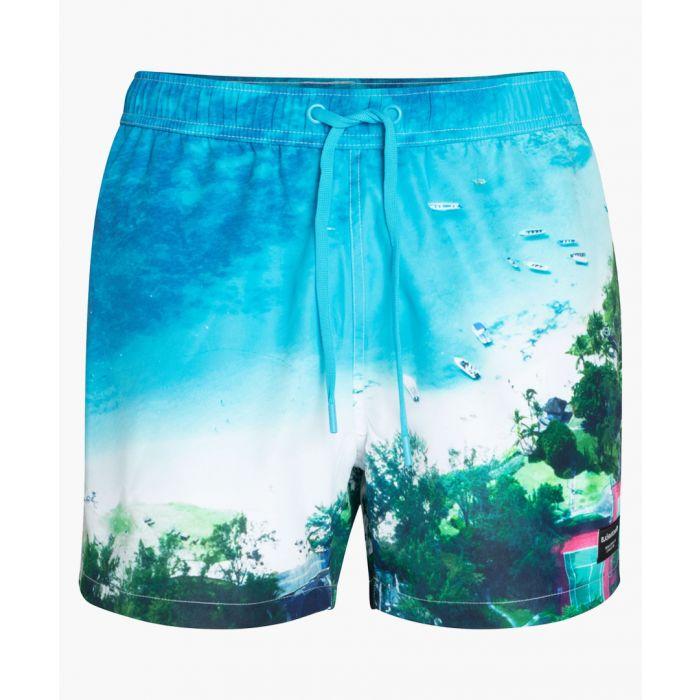 Image for Sid blue printed swim shorts