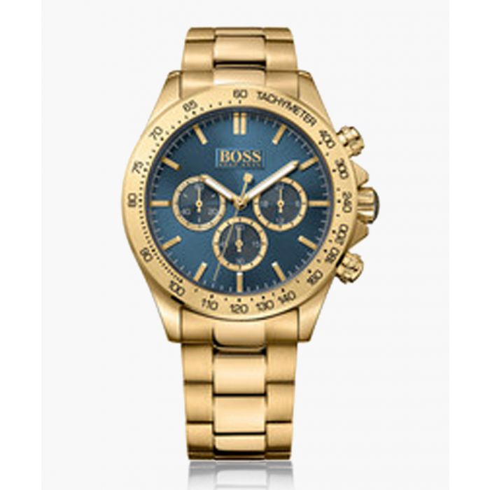 Image for Ikon gold-plated and blue dial watch