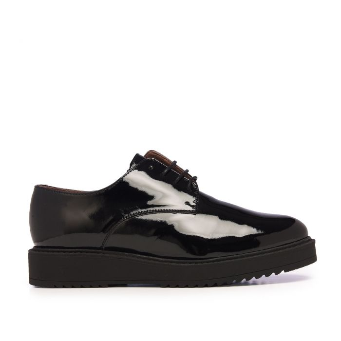 Image for María Barceló Patent Leather Blucher Dress Shoes Women Black