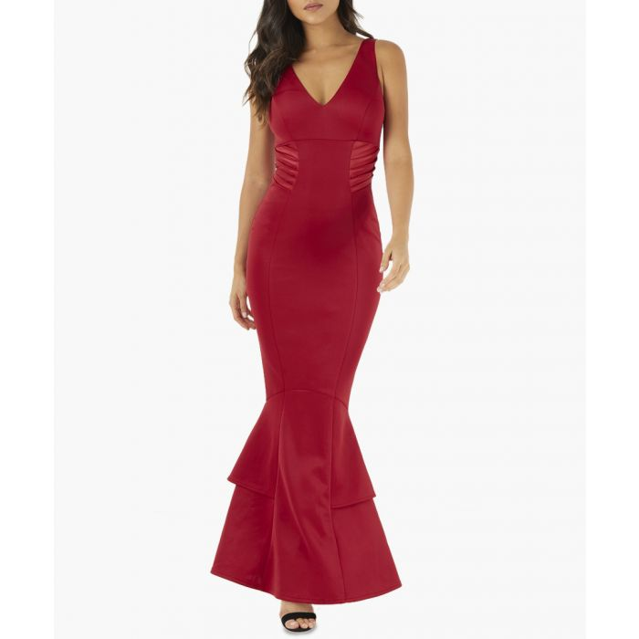 Image for Red fishtail dress