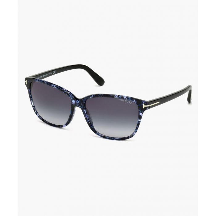 Image for Havana and blue marble gradient sunglasses
