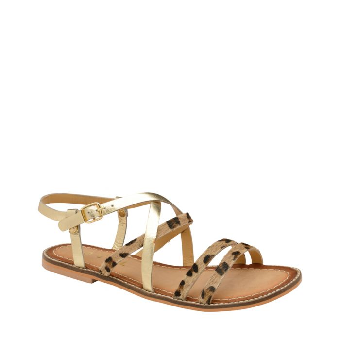 Image for Leopard printed strap sandals