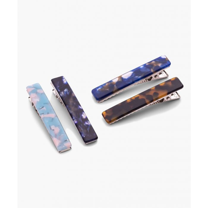 Image for 4pc marbled hair clips