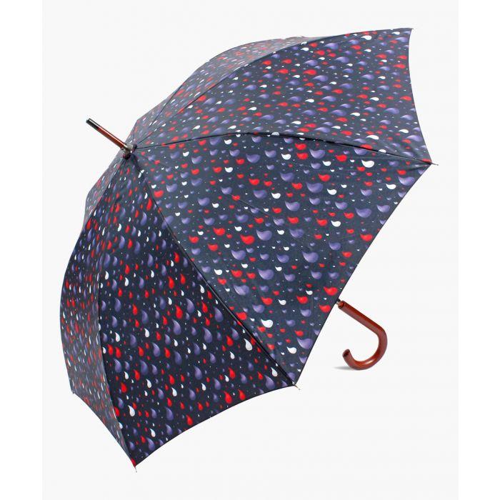 Image for Multi-coloured rain drops printed umbrella