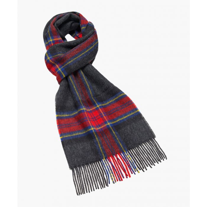 Image for Middleham charcoal pure wool scarf