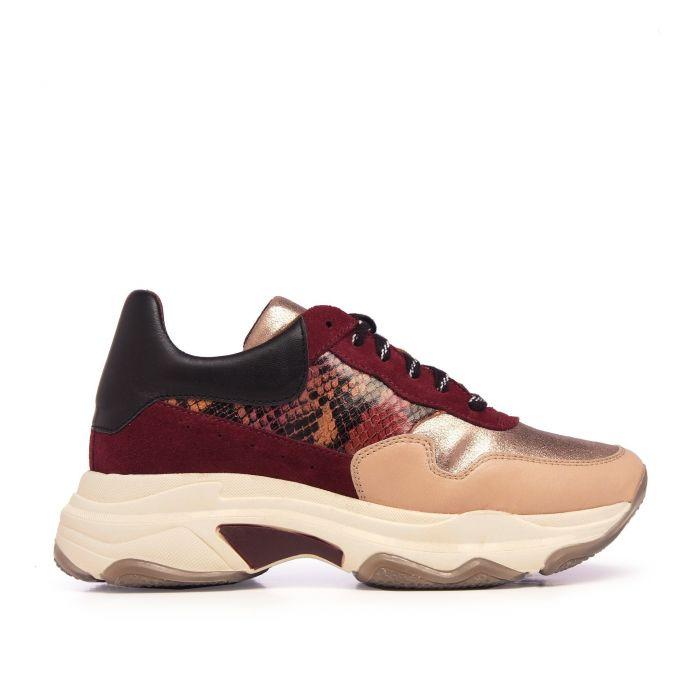 Image for María Barceló Sport Shoes Women Sneaker Bordeaux Color Laces Woman