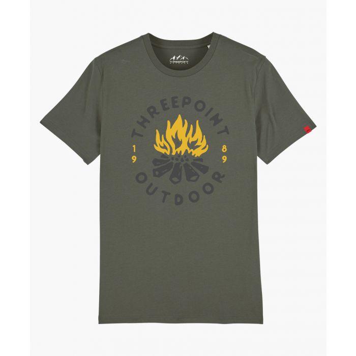 Image for Camp Fire khaki T-shirt