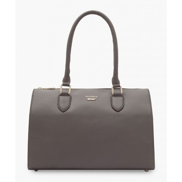 Image for Matera brown leather shopper