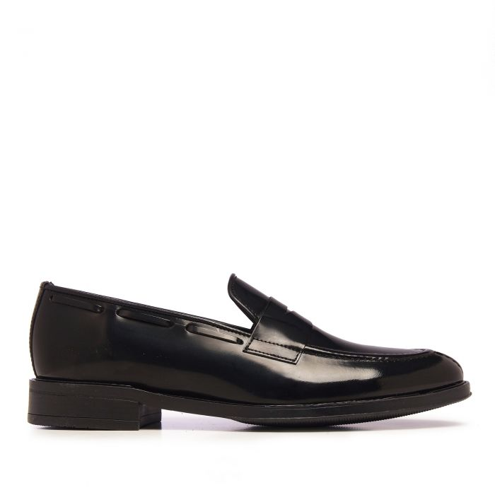 Image for Mens black florentic leather moccasins