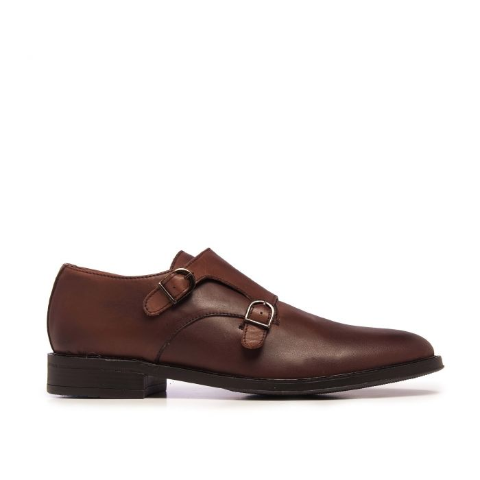 Image for Castellanisimos Monk Men Leather Shoe Brown