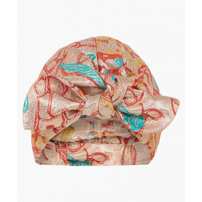 Image for Multi-coloured silk blend turban