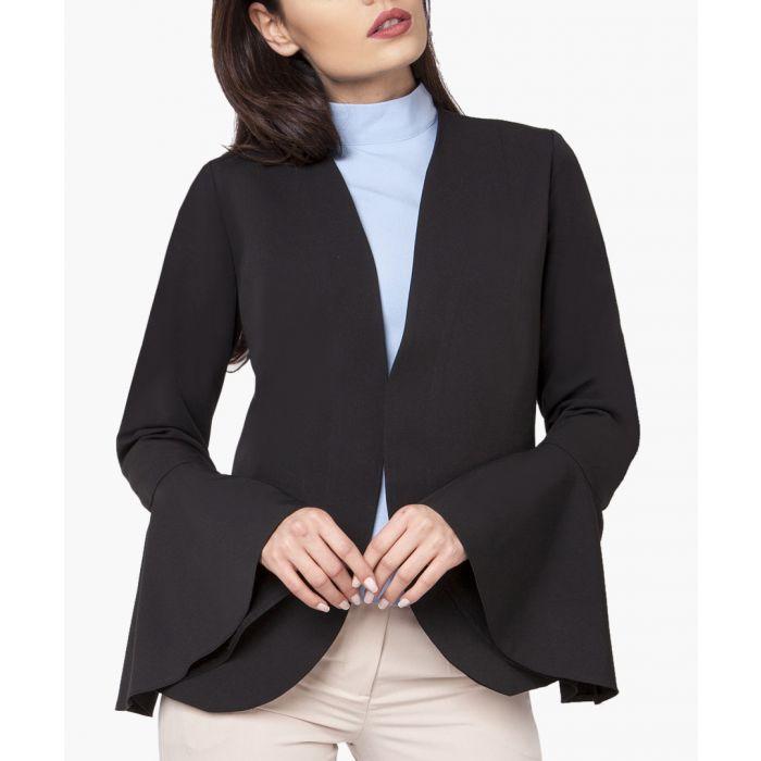 Image for Black woven blazer