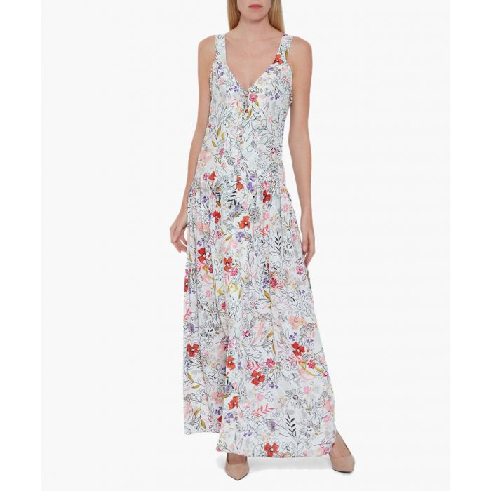 Image for Multi-coloured betina printed maxi dress