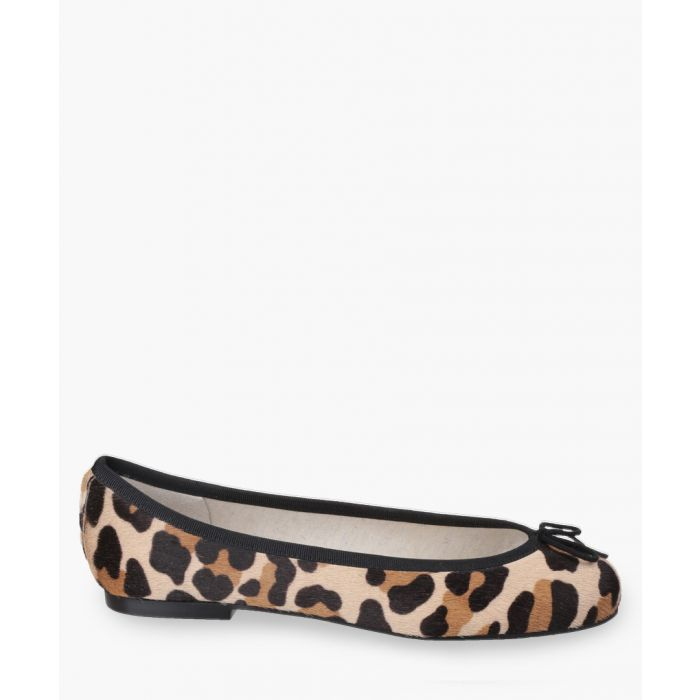Image for Henrietta leopard printed slip-on shoes