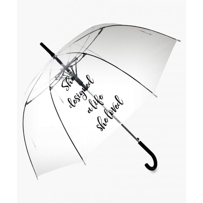 Image for She Designed A Life She Loved black slogan transparent umbrella