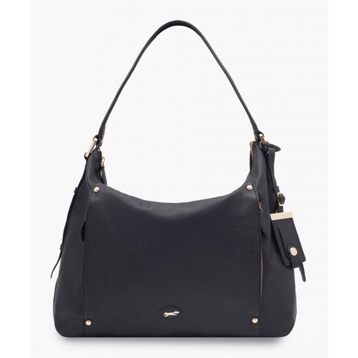Image for Ferndale black leather shopper