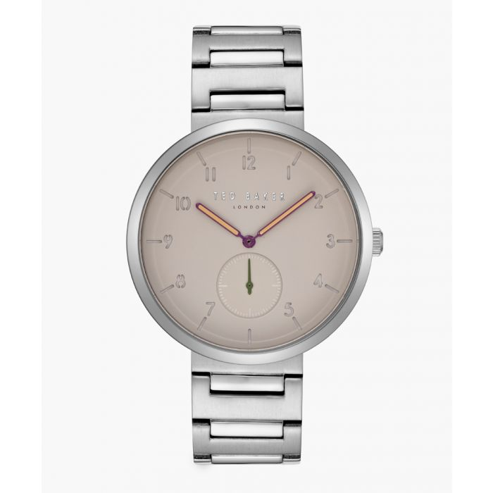 Image for Josh silver-tone leather and stainless steel watch
